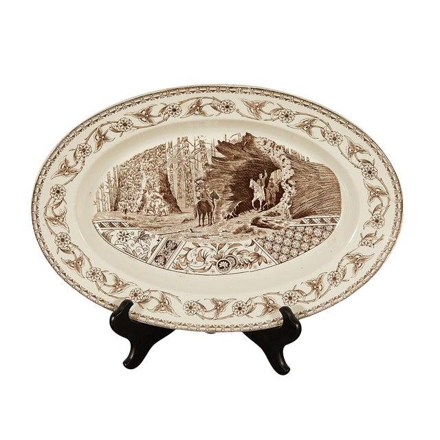 Ironstone Platter of Yosemite For Sale