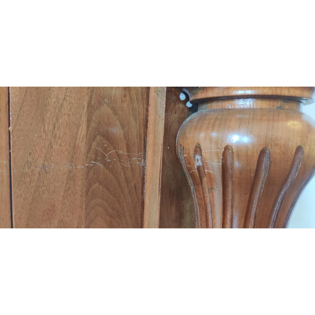 Victorian Walnut Classical Revival Fireplace Mantel For Sale In Philadelphia - Image 6 of 8