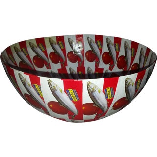 African Red Saldanha Large Round Bowl For Sale