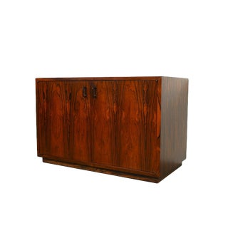 Rosewood Cabinet Entertainment Center Bar For Sale