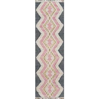 Novogratz by Momeni Indio Beverly in Pink Rug - 2'X8' Runner For Sale