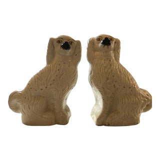 Staffordshire White Dogs - A Pair