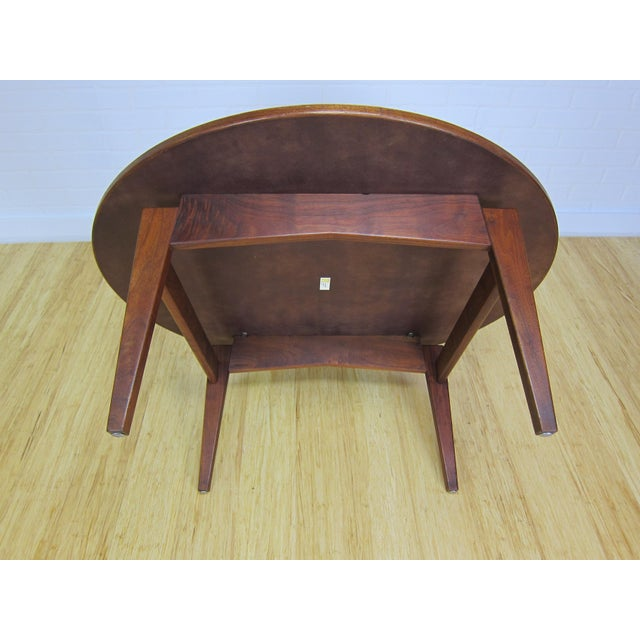 Wood Mid-Century Jens Risom Laminate & Walnut T-336 Coffee Table For Sale - Image 7 of 9