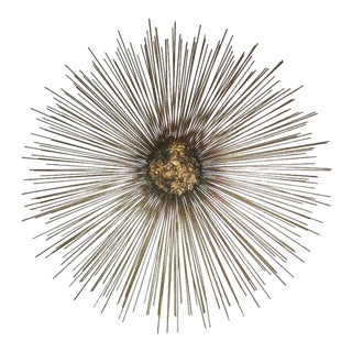 Bruce Friedle Mid-Century Metal Sunburst Wall Sculpture