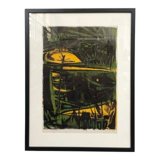 1950 Jerry Opper Mid Century Lithograph For Sale