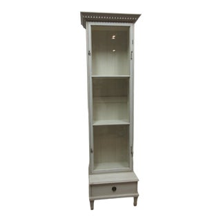 Vintage Gustavian Glass Door Cabinet For Sale