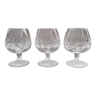 Vintage Questa Cut Brandy Glasses by Astral - Set of 3 For Sale