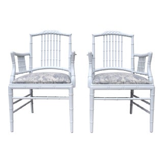 Chinese Chippendale Pagoda Style Arm Chairs - a Pair For Sale