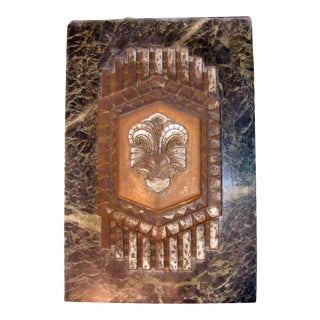 Philadelphia Civic Center Art Deco Marble Plaque For Sale