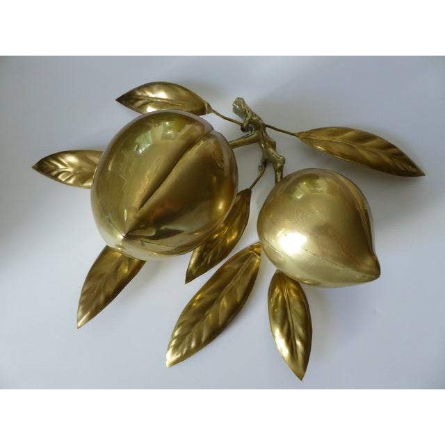 Large Mid Century Brass Fruit Table Sculpture - Image 2 of 6