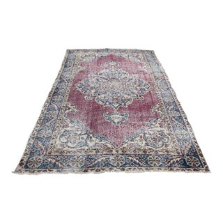 1970s Vintage Turkish Hand-Knotted Rug - 3′7″ × 6′8″ For Sale