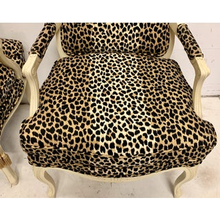 Pair of French Style Bergere Chairs in Leopard Preview