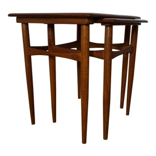 Mid-Century Nesting Tables in Style of Kai Kristiansen- Set of 2 For Sale