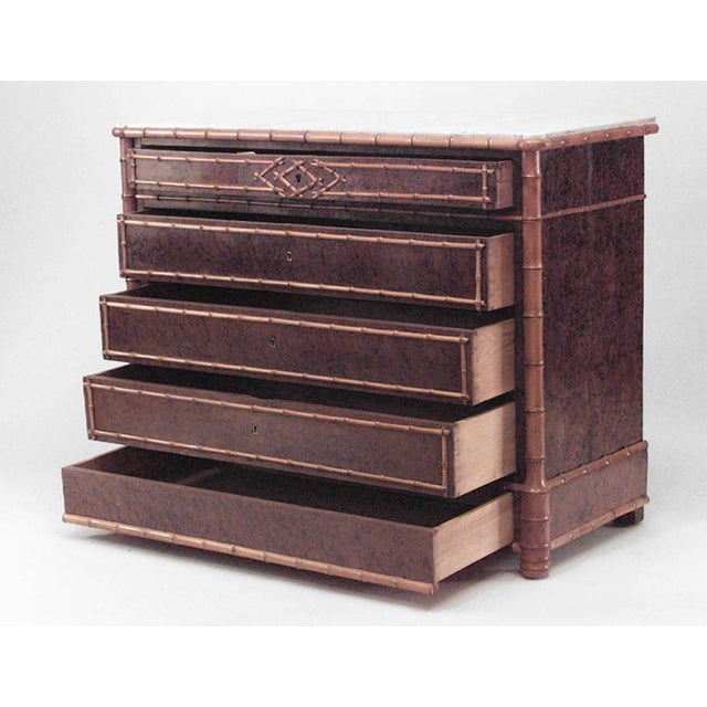 Mid 19th Century American Victorian Chest of Five-Drawer For Sale - Image 5 of 5