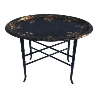 1950s Papier Mache Low Tray Top Table For Sale