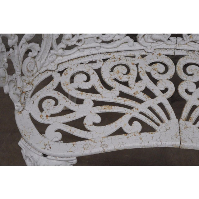 Antique Cast Iron Victorian Garden Bench - Image 5 of 11