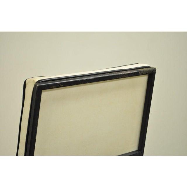 Metal Vintage Mid Century Modern Wrought Iron Arthur Umanoff Paul McCobb Arm Chair For Sale - Image 7 of 11