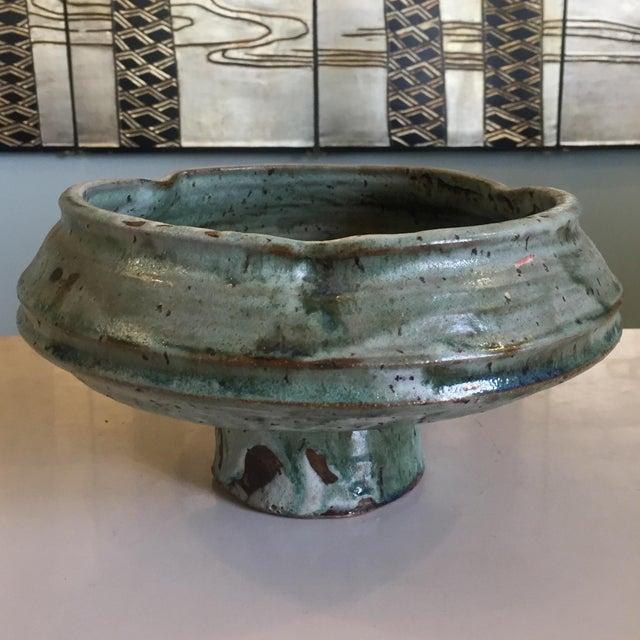 Asian Mid-Century Ikebana Style Studio Pottery For Sale - Image 3 of 8
