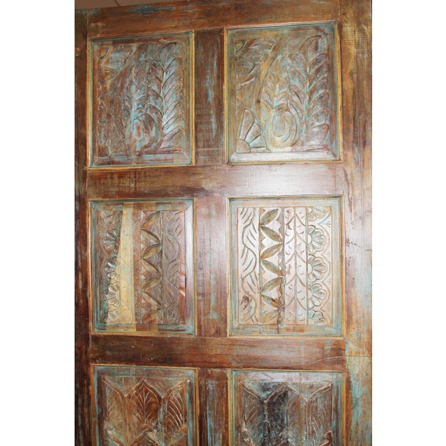Antique Carved Wooden Door For Sale - Image 4 of 6