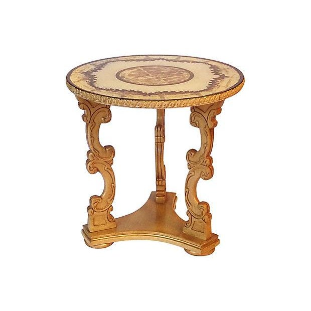 Glass Top Occasional Table For Sale