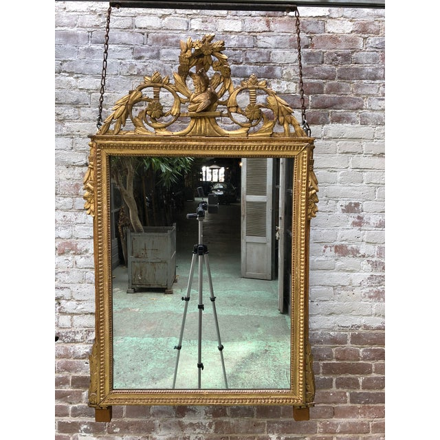 Louis XVI 18th Century Mirror For Sale - Image 9 of 9