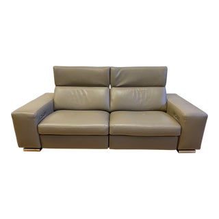 "Roche Bobois Leather ""Moving"" Recliner Sofa For Sale"