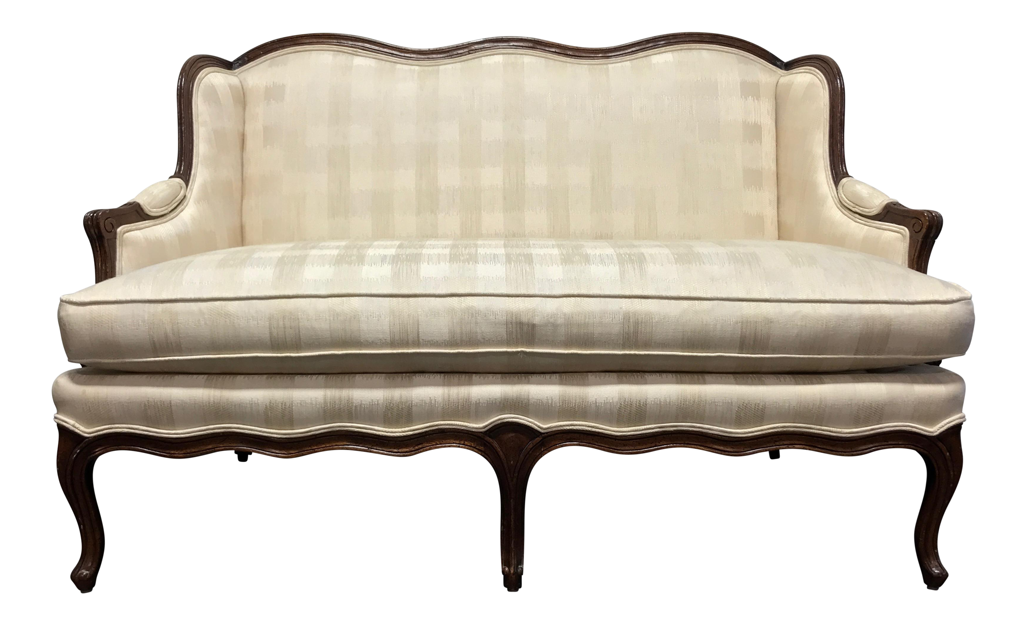 HENREDON Schoonbeck French Country Style Carved Loveseat Settee