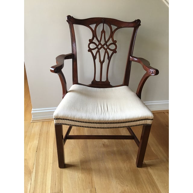 2000 - 2009 Baker Stately Home Mahogany Dining Chairs - Set of 8 Style 5244 & 5245, Excellent Condition! For Sale - Image 5 of 7