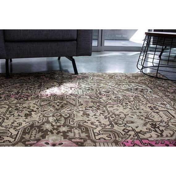 """Vintage Persian Area Rug - 6'5"""" x 9'3"""" - Image 4 of 11"""