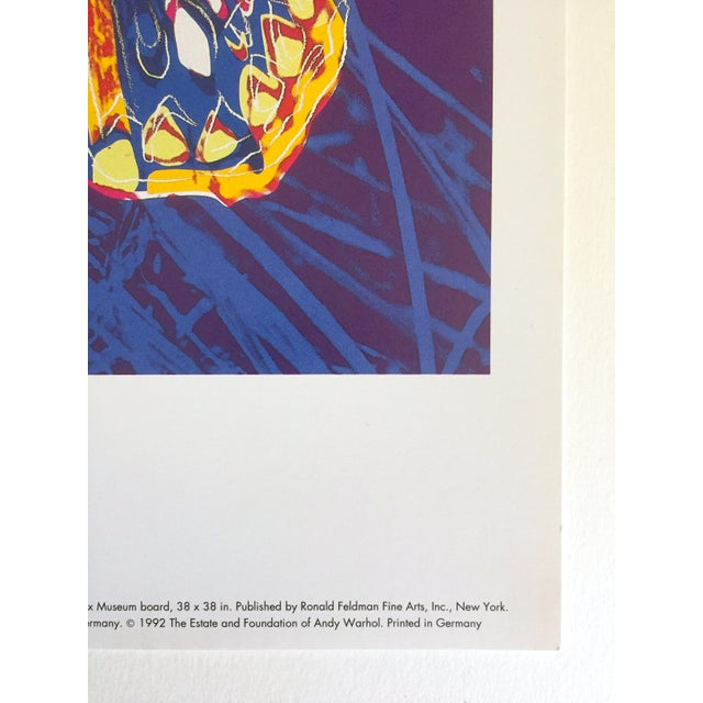 """Andy Warhol Estate Rare Vintage 1992 Endangered Species Collector's Lithograph Pop Art Print """" San Francisco Silverspot Butterfly """" 1983 For Sale In Kansas City - Image 6 of 9"""
