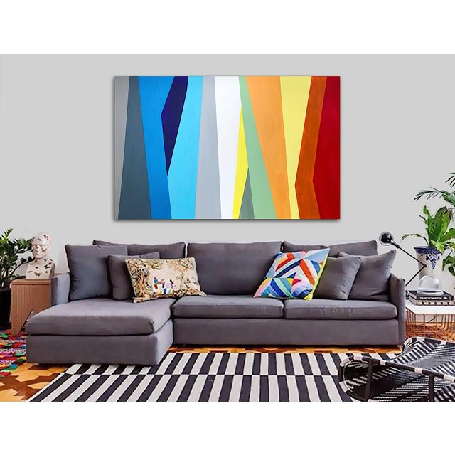 'Prismatic' Original Abstract Painting by Linnea Heide For Sale - Image 6 of 8