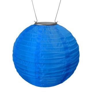 Soji Outdoor Solar Powered Lantern in Blue For Sale