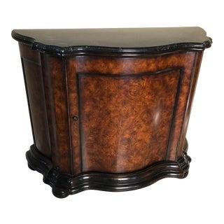 Ralph Lauren Marble Console Demilune Cabinet For Sale