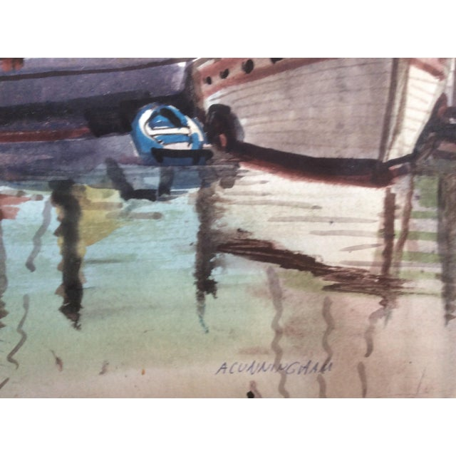 Fishing Boats Watercolor For Sale - Image 9 of 11