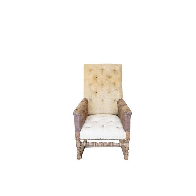 Antique Tall Back Chair For Sale - Image 9 of 9