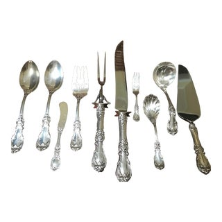 Reed and Barton Burgundy Sterling Set - 70 Pieces, Service for 12 For Sale