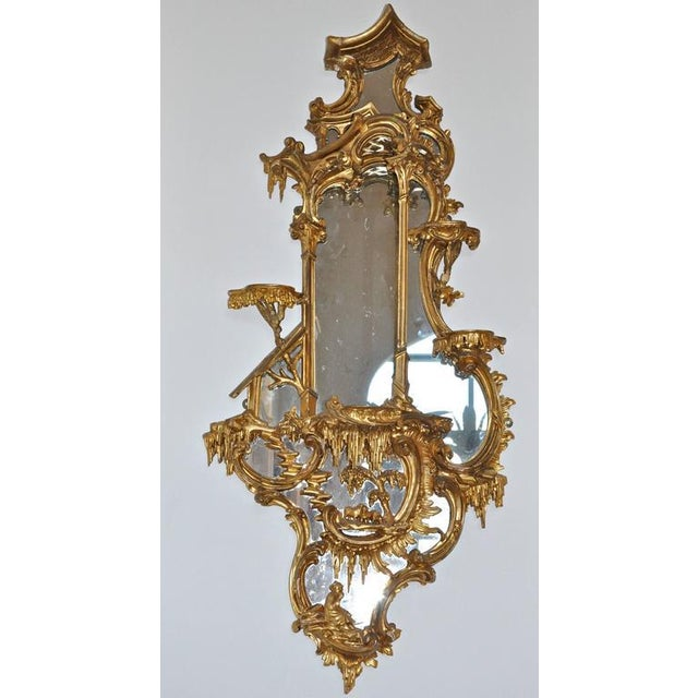 Pair of 18th Century Girandole Mirrors Attributed to Thomas Johnson For Sale - Image 10 of 11