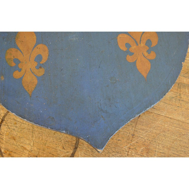 Vintage French Painted Family Shield For Sale - Image 10 of 13