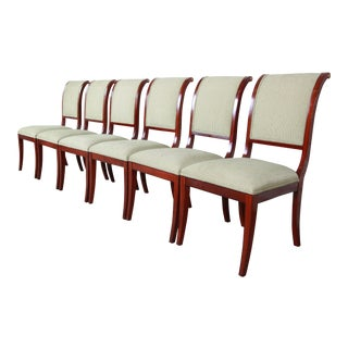 John Widdicomb Regency Style Mahogany Dining Chairs, Set of Six For Sale