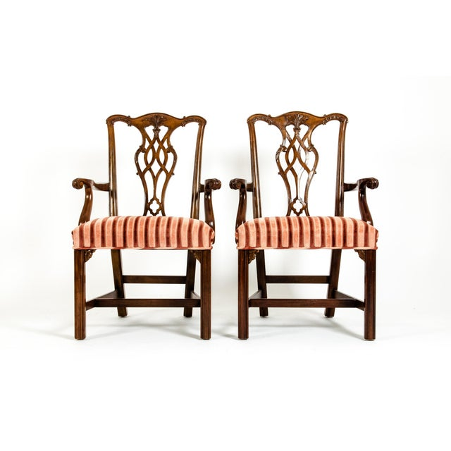 George III Style Mahogany Dining Chairs - Set of 8 For Sale - Image 10 of 13