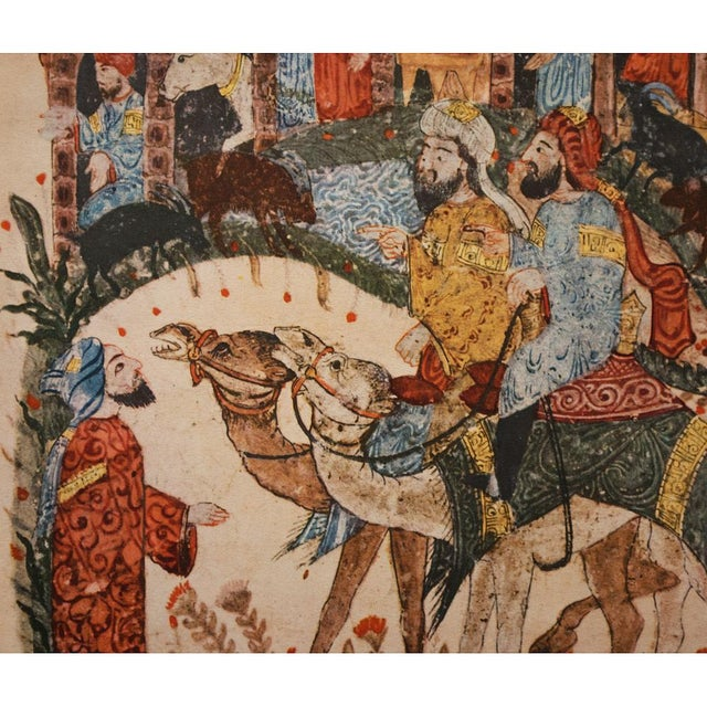 1940's Vintage Original Persian 1237 A.D. Lithograph For Sale In Dallas - Image 6 of 9