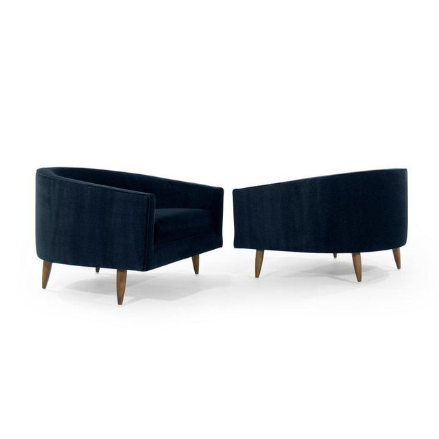Danish Modern Adrian Pearsall for Craft Associates Cloud Lounges in Mohair - a Pair For Sale - Image 3 of 11