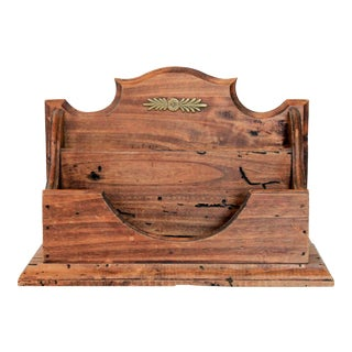 Italian Wooden Letter Holder For Sale