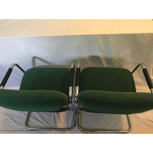 Cramer Cantilever Armchairs - A Pair - Image 7 of 8