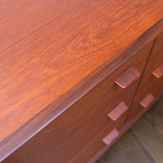 Danish Modern Poul Volther Style Teak Triple Dresser For Sale In New York - Image 6 of 9