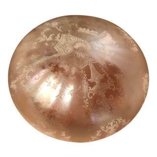 Iridescent Victorian Style Glass Globe