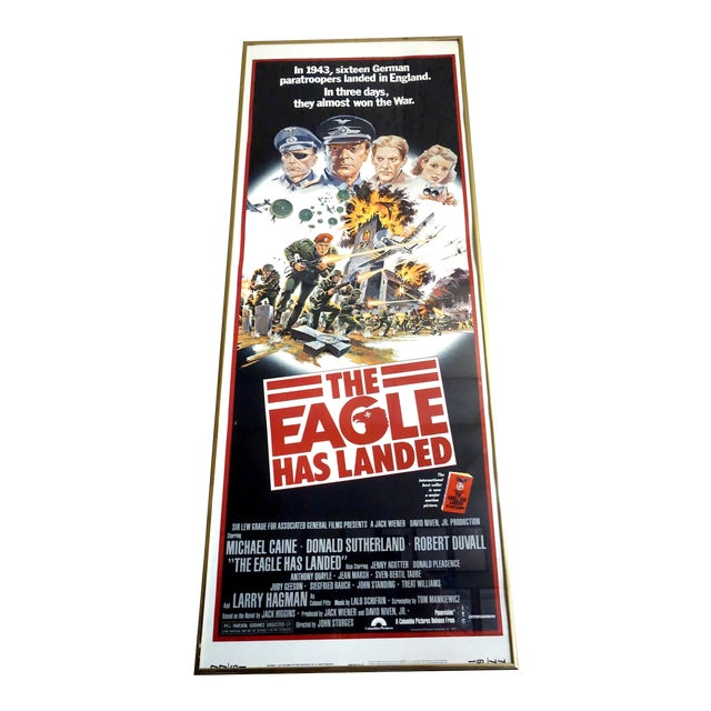 """Movie Poster 1976 """"The Eagle Has Landed"""" Wirth Michael Caine, Donald Sutherland. Very Rare Poster. For Sale"""