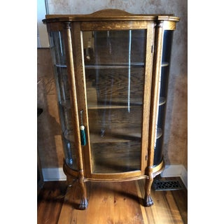 20th Century Traditional Wooden Curio Cabinet Preview