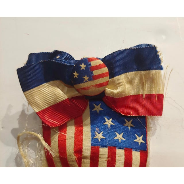 William McKinley 1896 Us Presidential Campaign Lapel Button W/Ribbon For Sale - Image 4 of 6