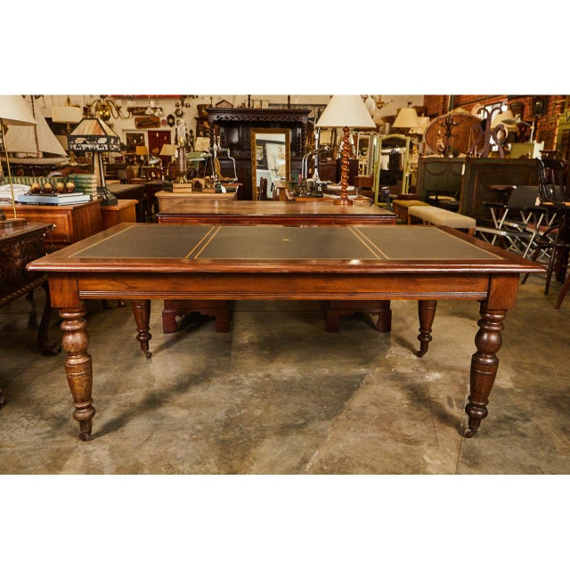 Large English Writing Table circa 1870's - Image 2 of 9